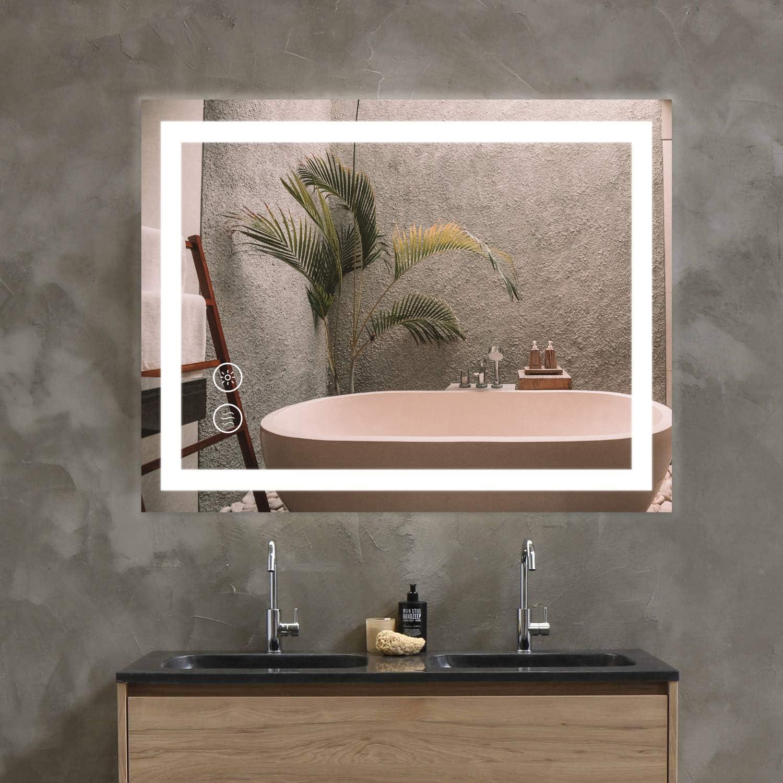 shipfree Intelligent Anti-Fog Bathroom High quality Mirror Touc with Light LED