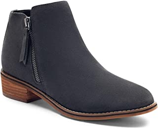 Womens Linda Leather Closed Toe Ankle Fashion Boots, Grey, Size 7.5