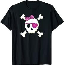 Pirate Girl Skull Heart T Shirt Toddler Valentine Gift