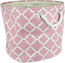 DII Polyester Container with Handles, Lattice Storage Bin, Medium Round, Rose Lattice