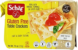 Schar Gluten Free Table Crackers, 7.4 Ounce (Pack of 3)