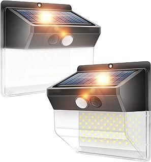 LightingWill Solar Wall Light, 172LED Motion Sensor Light Outdoor Super Bright Security Wall Lights for Front Door, Yard, ...