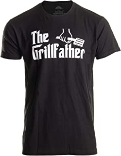 The Grillfather | Funny Dad Grandpa Grilling BBQ Meat Humor T-Shirt Joke for Men