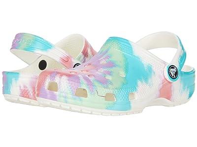 Crocs Kids Classic Tie-Dye Graphic Clog (Toddler/Little Kid/Big Kid) Kids Shoes