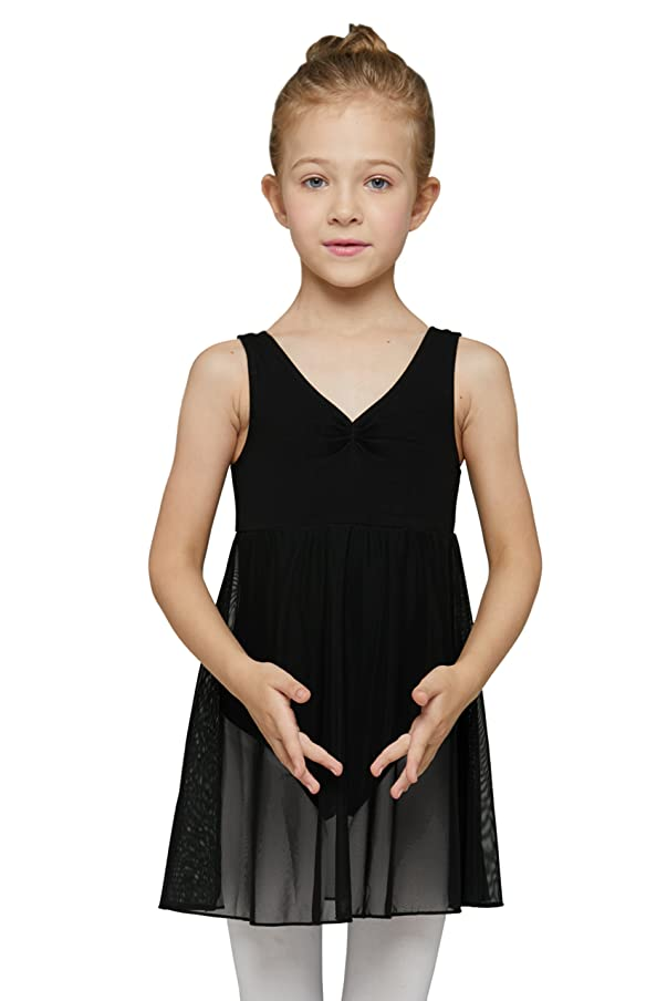 MdnMd Girls' Tank Leotard Dress