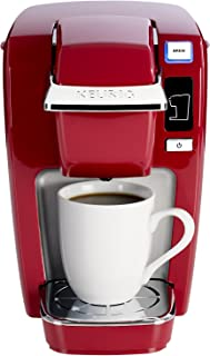 Keurig K15 Coffee Maker, Single Serve K-Cup Pod Coffee Brewer, 6 to 10 oz. Brew Sizes, Red