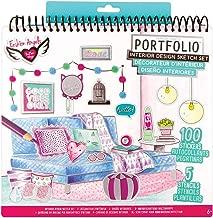 Fashion Angels Interior Design Sketch Portfolio, Assorted