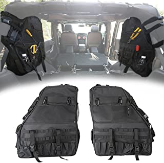 Opall Saddlebag Roll Bar Storage Bag Cage with Multi-Pockets & Organizers & Cargo Bag Tool Kits for Jeep Wrangler 1997~2018 Jeep Wrangler JK TJ LJ & Unlimited Rubicon 4 Doors