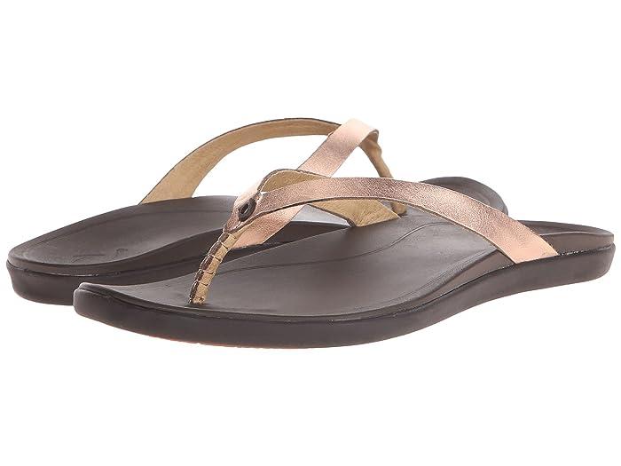 Ho'opio Leather  Shoes (Copper/Dark Java) Women's Sandals