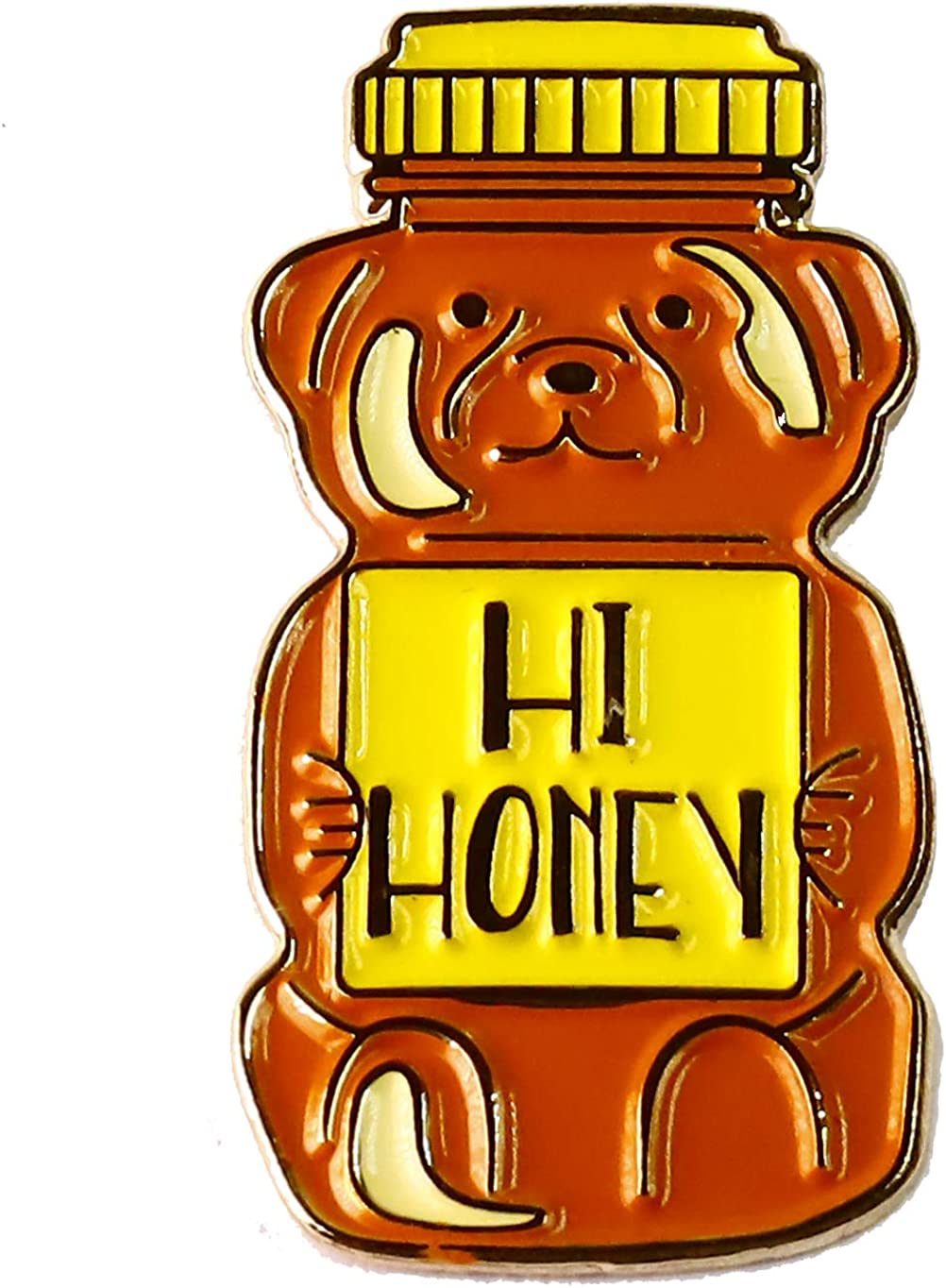 WizardPins Hi Honey Honey Bear Cute Enamel Lapel Pin