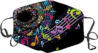 TJCJIEM 1 Pieza Adultos 𝐌𝐚𝐬𝐜𝐚𝐫𝐢𝐥𝐥𝐚𝐬 Elegante, Protección_Ajustable con Estampado de Nota Musical para Mujer y H...