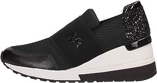 Michael Kors Sneakers, Donna, Tessuto e Pelle, Black 43S7FXFS1D-001