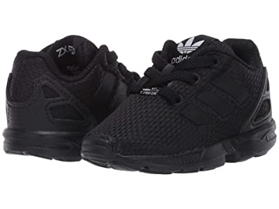 adidas Originals Kids ZX Flux EL (Toddler) (Black/Black) Kids Shoes