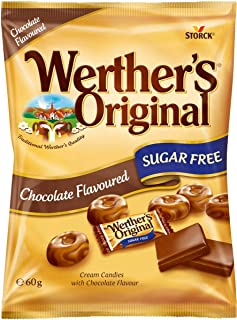 Werthers Original Sugar free Chocolate Candies, 60 gm