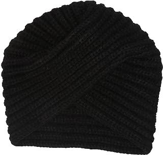 Women's Knit Turban Beanie, Black, One Size