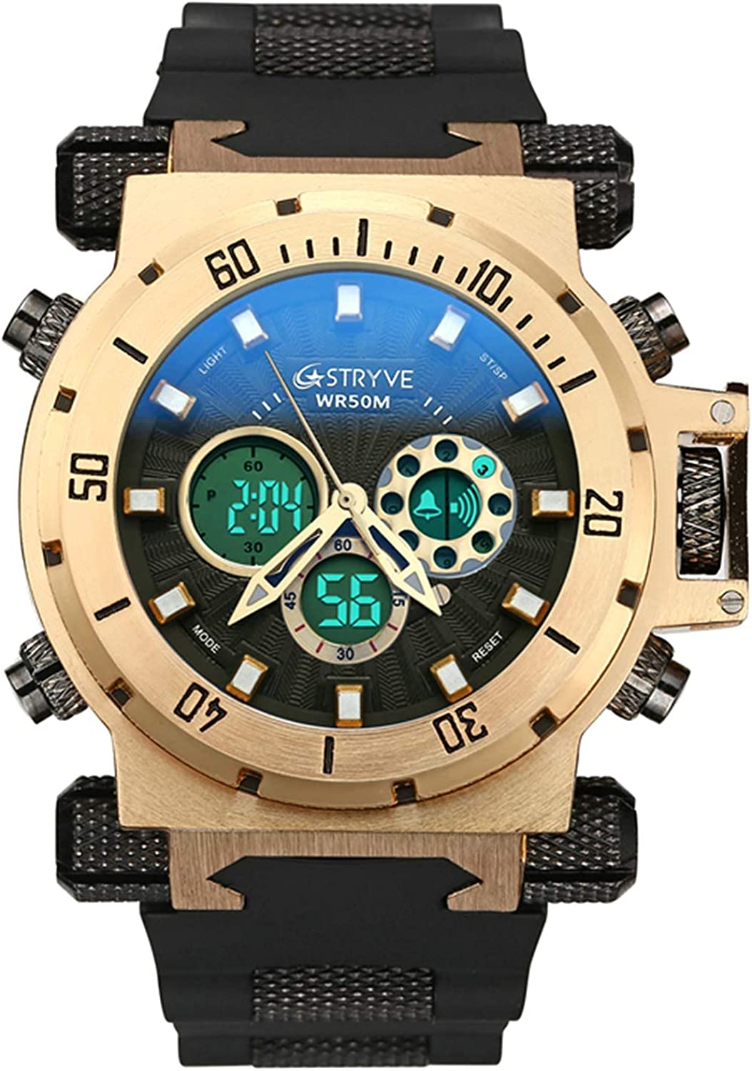 Miami Mall STRYVE Max 41% OFF Men's Wrist Watches Waterproof Digital-Analog 5ATM Sports