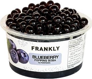 FRANKLY Popping Boba - Esferas de fruta para Bubble tea, té de burbujas, yogur, pasteles y dulces (Aràndanos, 490g)