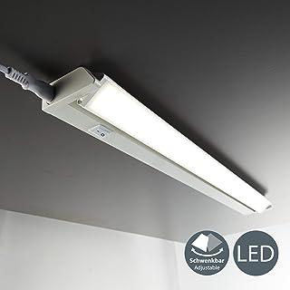 B.K.Licht - Lámpara fluorescente LED giratoria para