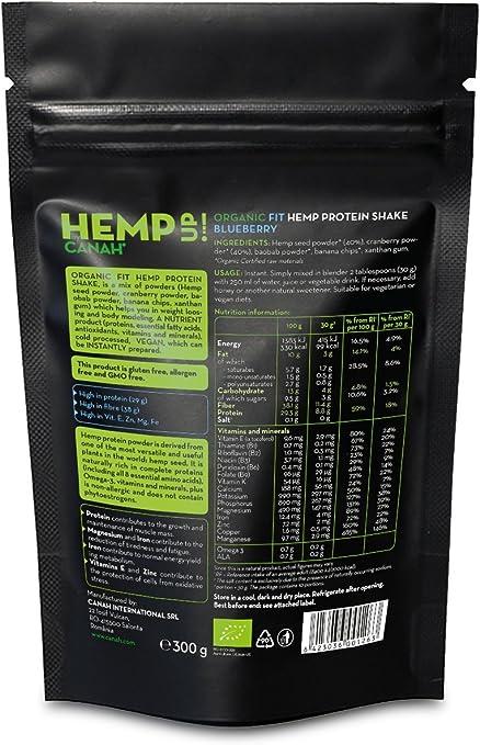 Canah Hemp Up POWER Batido de Proteína de Cáñamo y CACAO, Orgánico
