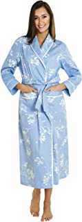 Alexander Del Rossa Women's Lightweight Cotton Kimono Robe, Printed Summer Bathrobe