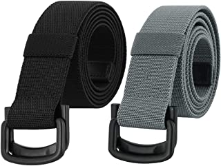 Samtree Military Tactical Belts for Men, Duty Belt with Double D Ring Buckle 2 Pack