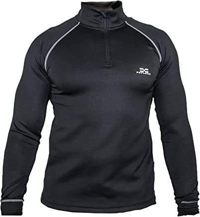 b08e7990fb2787 Feflogx Sportswear Functional Longsleeve Pure Herren   Hochwertiger  eleganter Sport-Pullover   Perfekt für Training