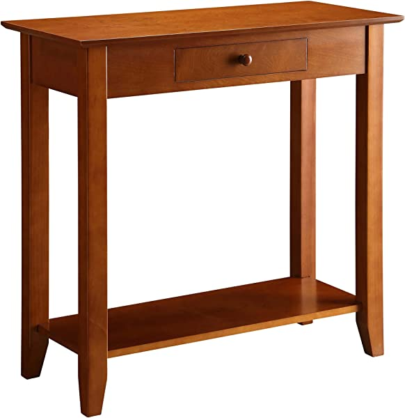 Convenience Concepts American Heritage Hall Table With Drawer And Shelf Cherry