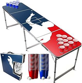 Pack Beer Pong Officiel Glacière   1 Table Beer Pong + 120 Cups (60 Blue & 60 Red) + 6 Balles   Kit Complet   Qualité Prem...