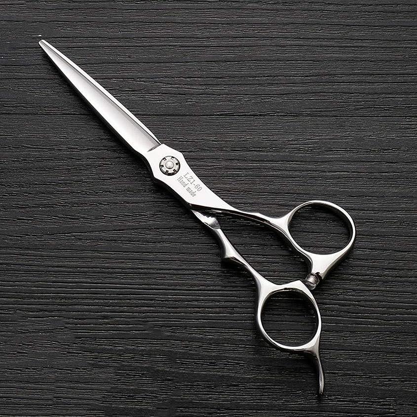 退屈累積緩める6インチハイエンド理髪師理髪用はさみ ヘアケア (色 : Silver)