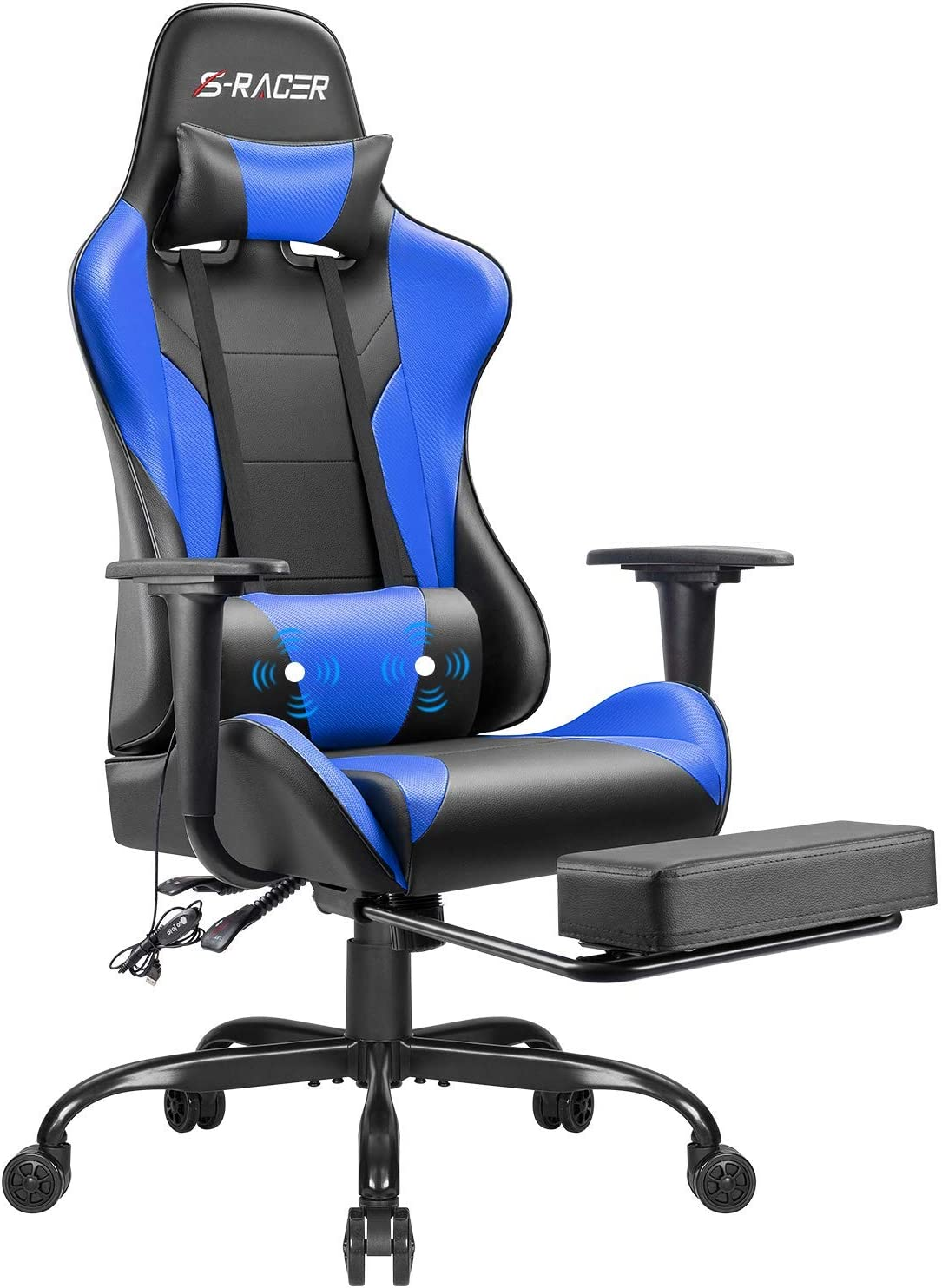Gaming Computer Office Ergonomic Desk Footrest Chair