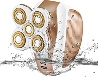 Painless Hair Remover for Women, Magicfly Waterproof Electric Removal for Legs, Face, Lips, Bikini, As Seen on TV Women Epilator, Gold