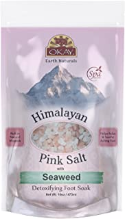 Sponsored Ad - Himalayan Pink Salt with Seaweed Soothing Mineral Soak Leaves Feet Feeling Cleansed,Refreshed and Relaxed N...