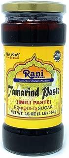 Rani Natural Tamarind (Imli) Paste 16oz (1lb) Glass Jar, No added sugar, Vegan ~ Gluten Free, NON-GMO