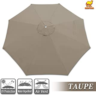 Strong Camel Replacement Umbrella Canopy for 10ft 8 Ribs in Taupe Color (Canopy Only)