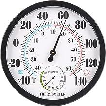 Termómetro Higrómetro Fácil leer Termómetro al aire libre interior Montado en la pared Garaje de la casa 2 en 1 Higrómetro portátil Higrómetro portátil Oficina duradera Digital Termohigrómetro