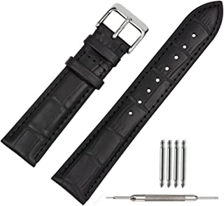 18 20 22mm Leather Watch Strap Brown Watch Bands 22mm Replacement Watch Clasp Black Brown for Men Women