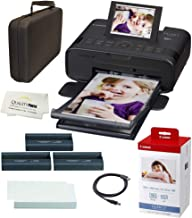 Canon SELPHY CP1300 Wireless Compact Photo Printer with AirPrint and Mopria Device Printing, with Canon KP108 Paper and Bl...