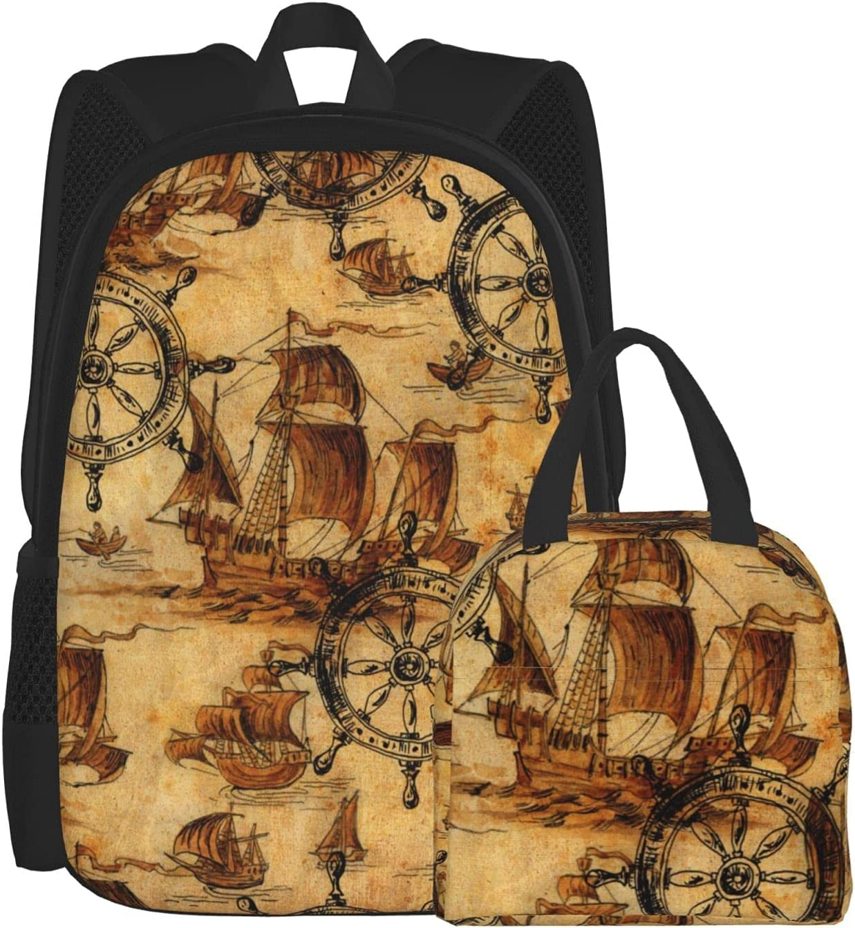 Backpacks for Girls Boys Vintage Sea B Max 53% OFF Lunch Unisex Marine Brand Cheap Sale Venue Theme