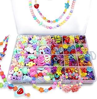 Bead KidsSet for Jewelery Making - Craft Beads Kits for Little Girls DIY Necklaces Bracelet Children Games,Gift for Kids. ...