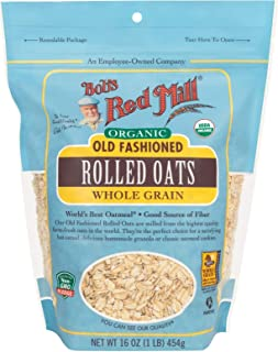 Bob's Red Mill Organic Oats Rolled Regular, 16 Ounce