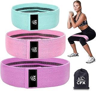 Bande Elastique Fitness – Bande de Resistance Set (3) - Équipement d'Exercices pour Musculation Pilates Squat Sport Crossfit Rééducation Physique et Motrice - Entrainement Corps, Jambes, Fessiers