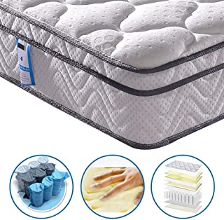 Vesgantti 10.2 Inch Multilayer Hybrid Queen Mattress - Multiple Sizes & Styles Available, Ergonomic Design with Breathable Foam and Pocket Spring/Medium Plush Feel