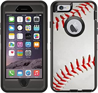 Teleskins Protective Designer Vinyl Skin Decals/Stickers for Otterbox Defender iPhone 6 / iPhone 6S Case -Baseball Design Patterns - only Skins and not Case