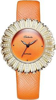 caluola moda cuarzo reloj zafiro impermeable Casual mujer reloj ca1179