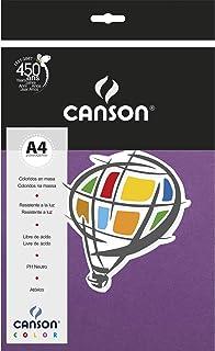 Papel Canson Color Violeta A4 180g/m² com 10 folhas