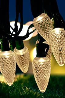 MOWASS C9 Christmas String Lights,Warm White String Light,16.6ft LED Roofline Light String,Waterproof Plug in String Light for Bedroom Patio Garden Party Wedding Patio Christmas Xmas Tree Decoration