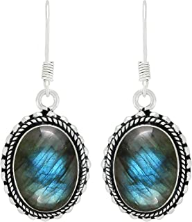 labradorite and prehnite earring, 925 Sterling Silver earring Dangle Earrings Labradorite earring spectrolite earrings gemstone earring