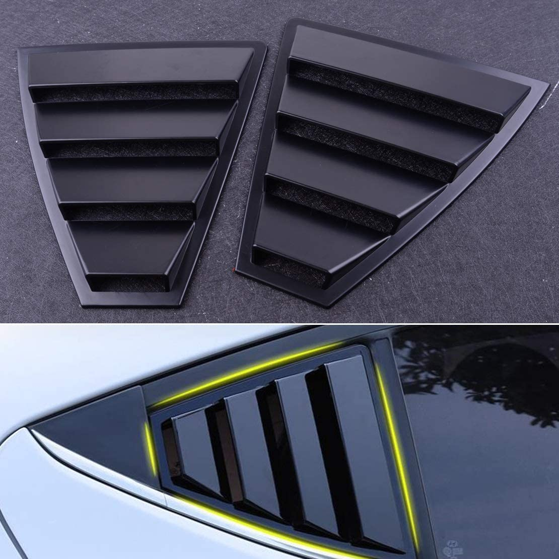 YANGLIYU Car Accessories 2 PCS Plastic Side Black Rear Quality inspection W 5 popular Quarter