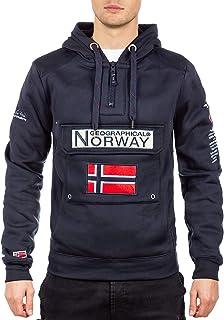 Geographical Norway GYMCLASS Men - Sweat Capuche Poche Kangourou Homme - Sweatshirt Logo Homme Pull Hood Veste - Sweat Shi...