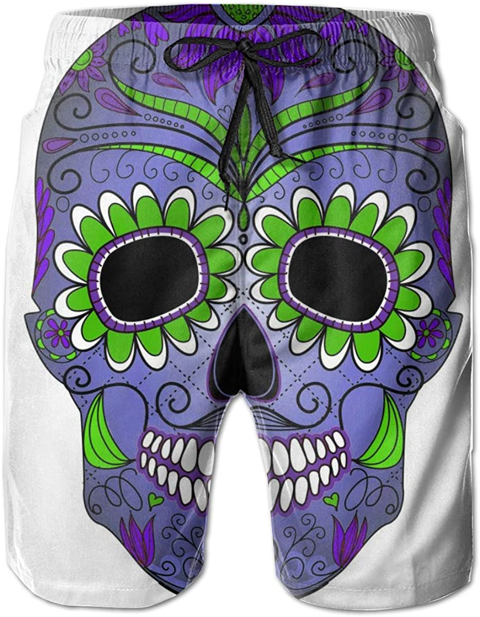 Cheap SALE Start Mexican Suger Skull 2 Summer Surf Spo Beach Shorts Special price Men's Funny